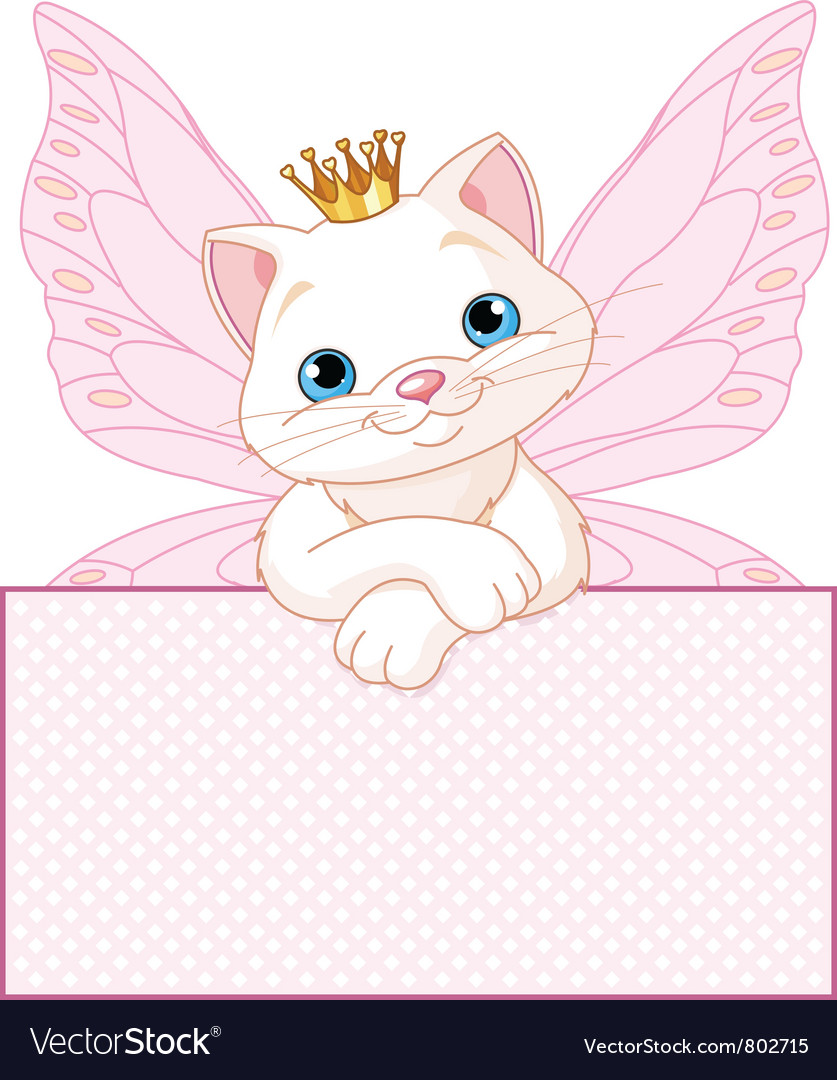 Adorable princess cat vector | Price: 3 Credit (USD $3)