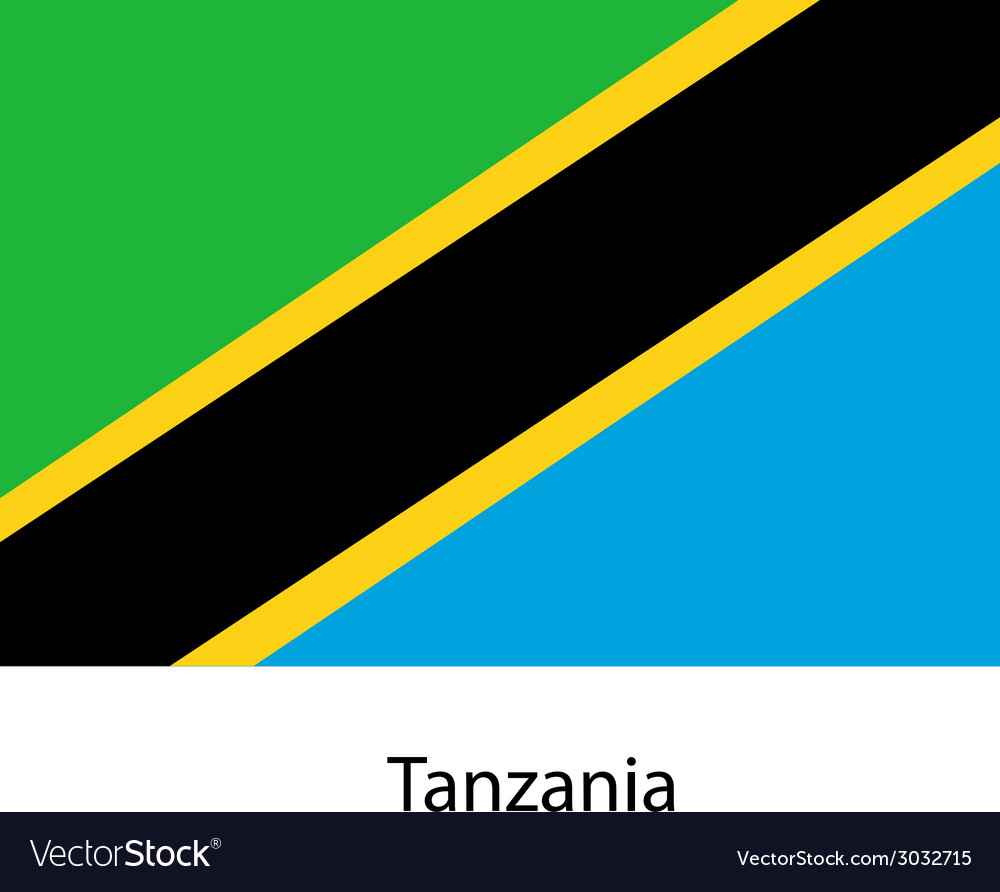 Flag of the country tanzania vector | Price: 1 Credit (USD $1)