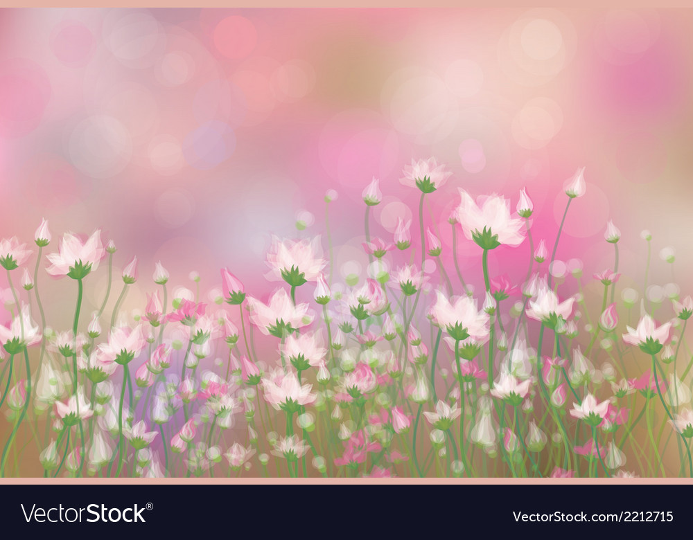 Floral pink background vector | Price: 1 Credit (USD $1)