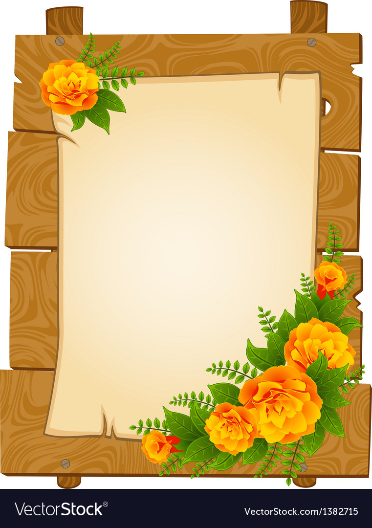 Flowers border frame vector | Price: 1 Credit (USD $1)