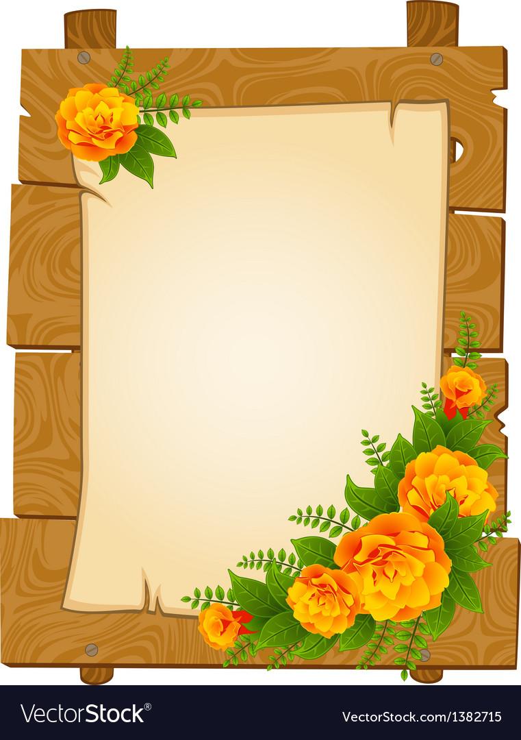 Flowers border frame vector | Price: 1 Credit (USD $1)