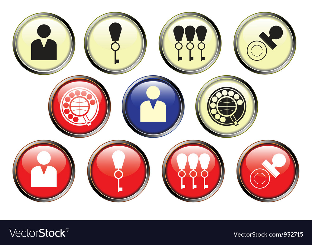 Icons of hotel service vector | Price: 1 Credit (USD $1)