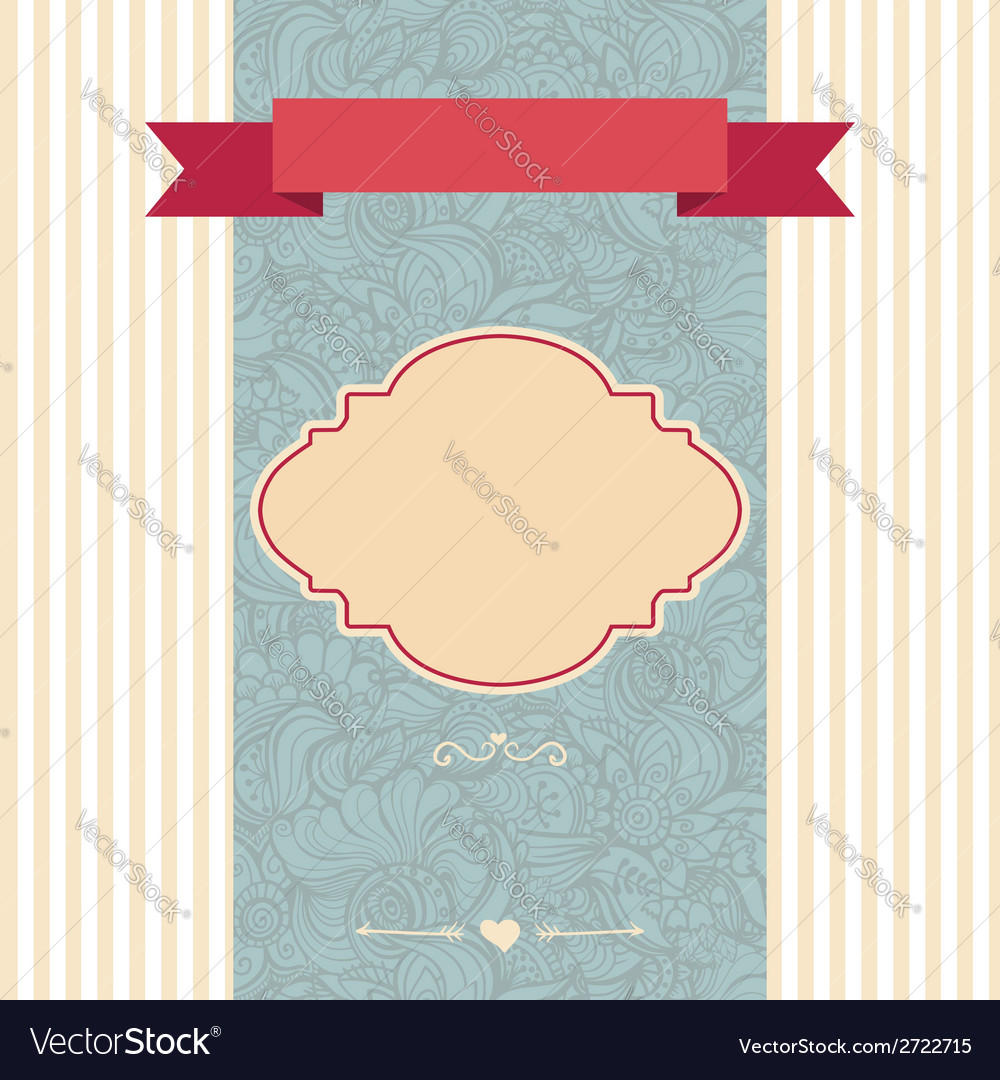Invitation card decorative frame vector | Price: 1 Credit (USD $1)