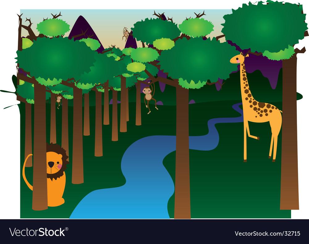 Jungle vector | Price: 1 Credit (USD $1)