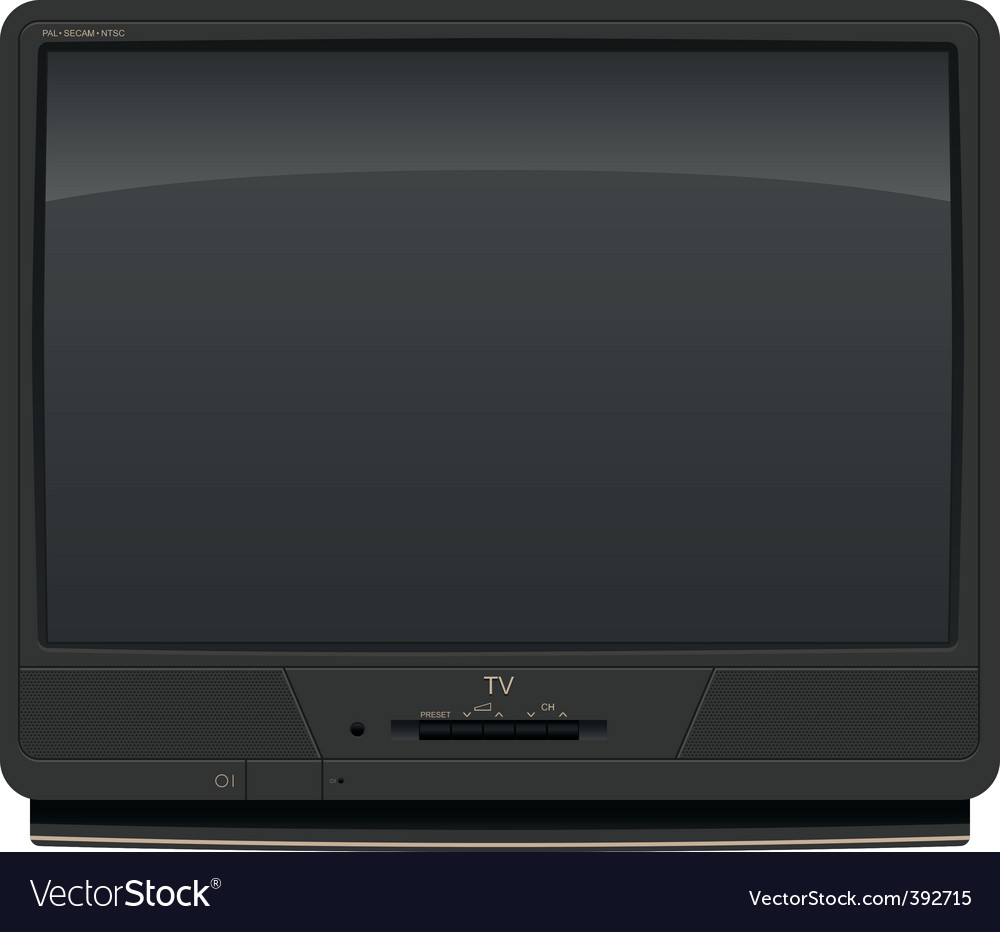 Old television vector | Price: 3 Credit (USD $3)