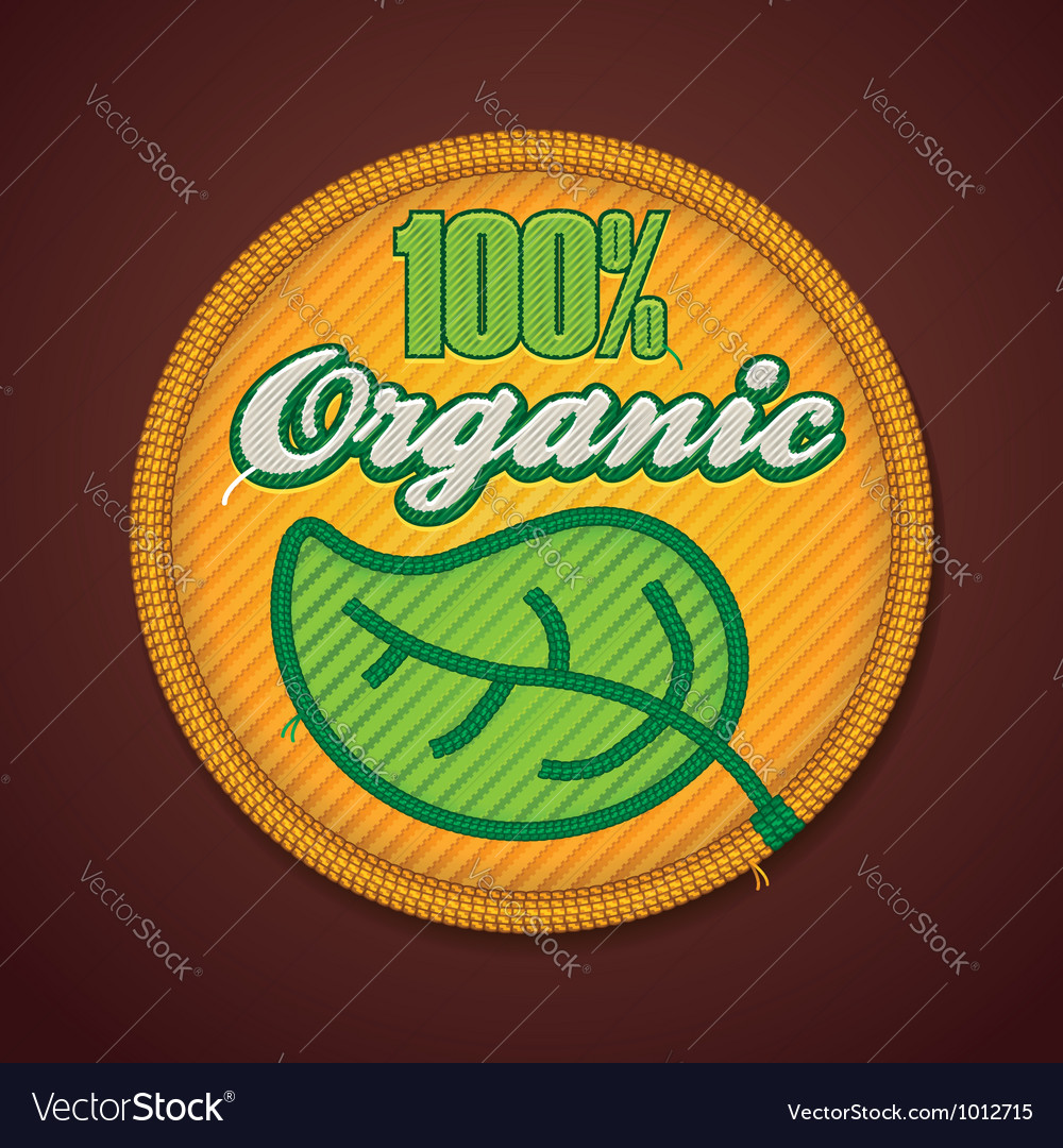 Organic fabric badge vector | Price: 3 Credit (USD $3)