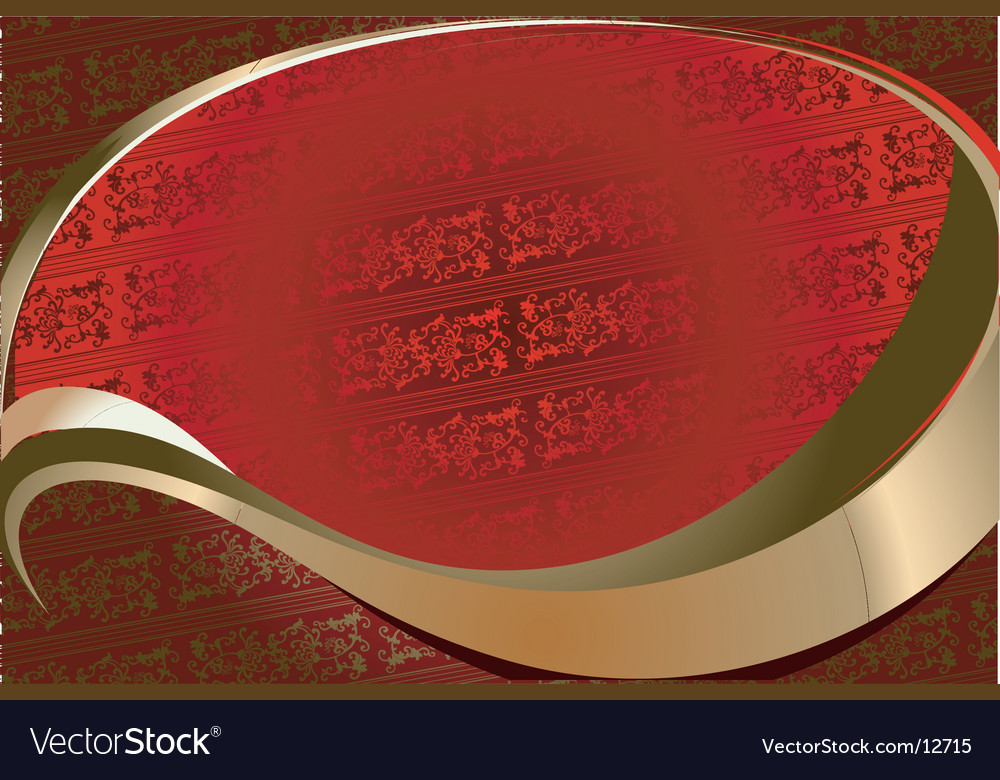 Red on gold ornate background vector | Price: 1 Credit (USD $1)