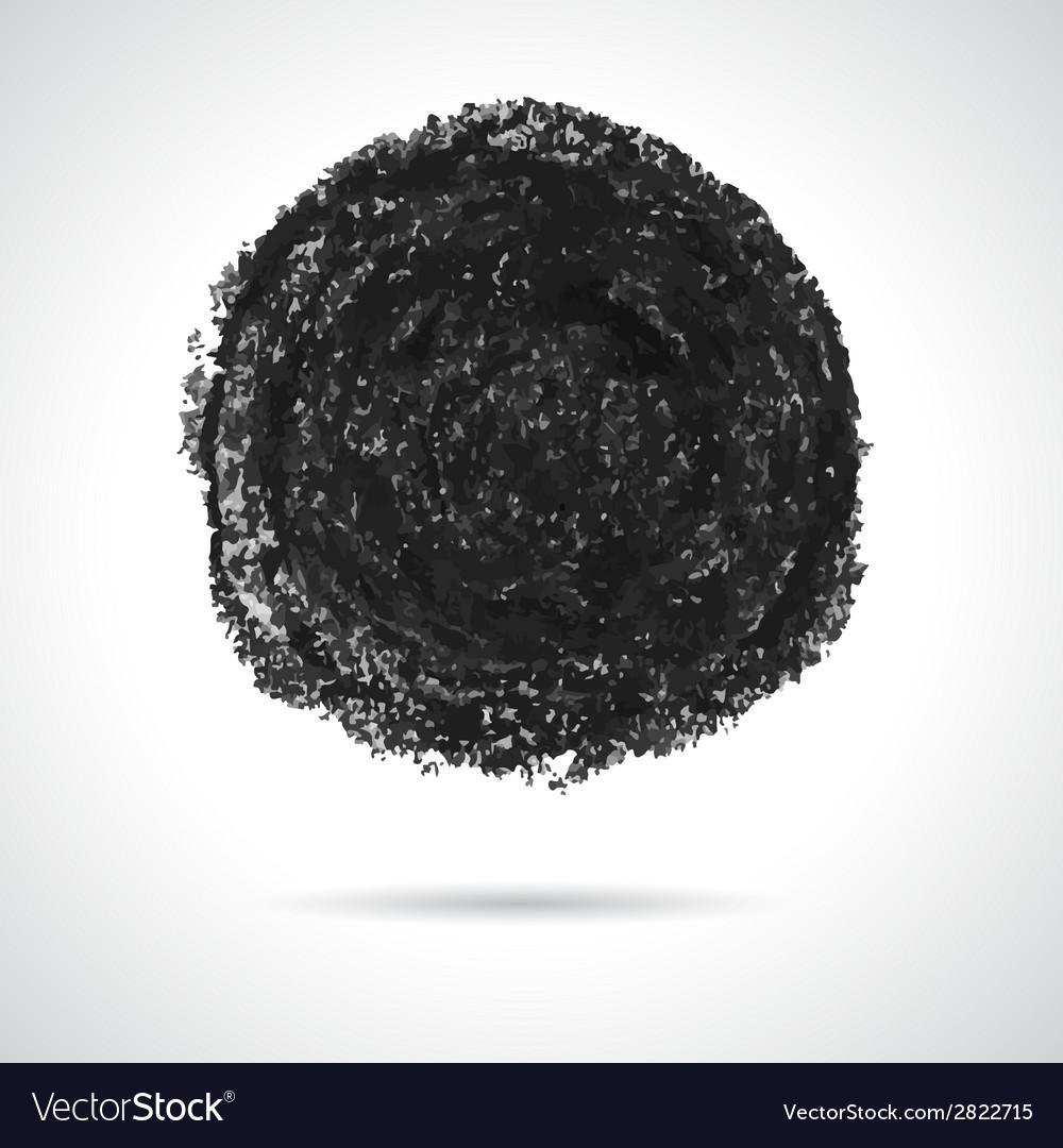 Round black oil pastel banner vector | Price: 1 Credit (USD $1)
