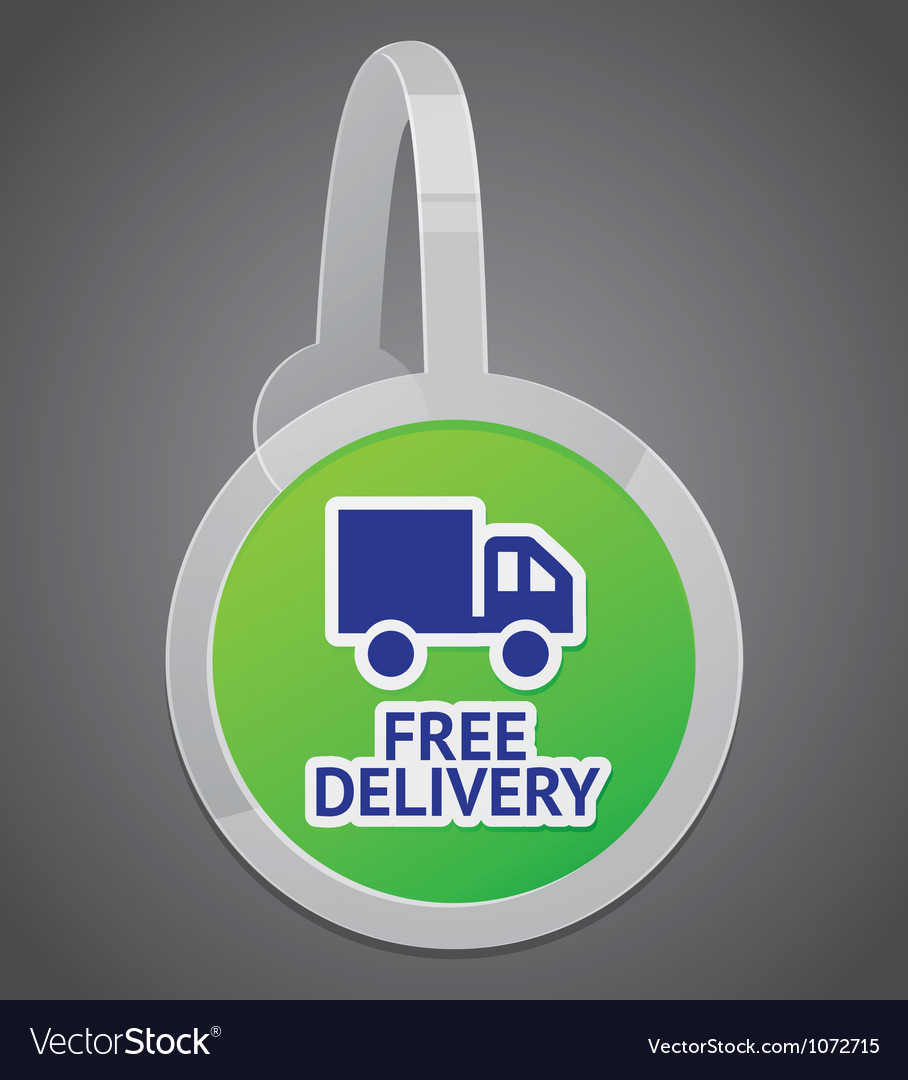 Sign with free delivery icon vector | Price: 1 Credit (USD $1)