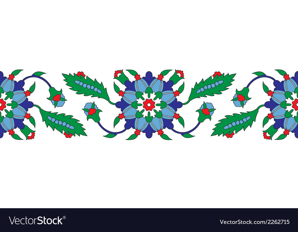 Turkish ornament border vector | Price: 1 Credit (USD $1)