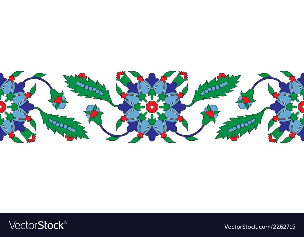 Turkish ornament border vector