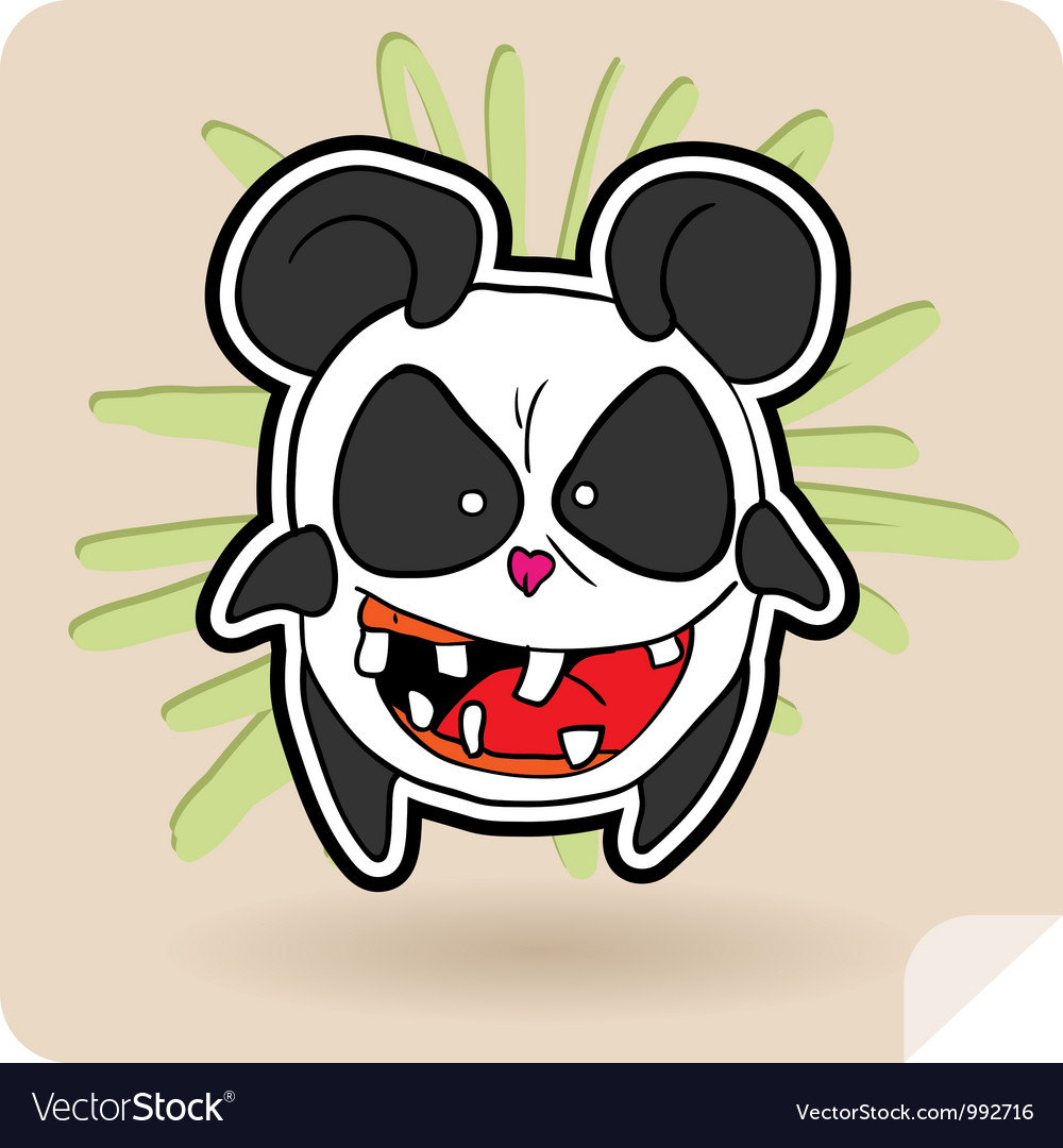 Angry panda vector | Price: 3 Credit (USD $3)