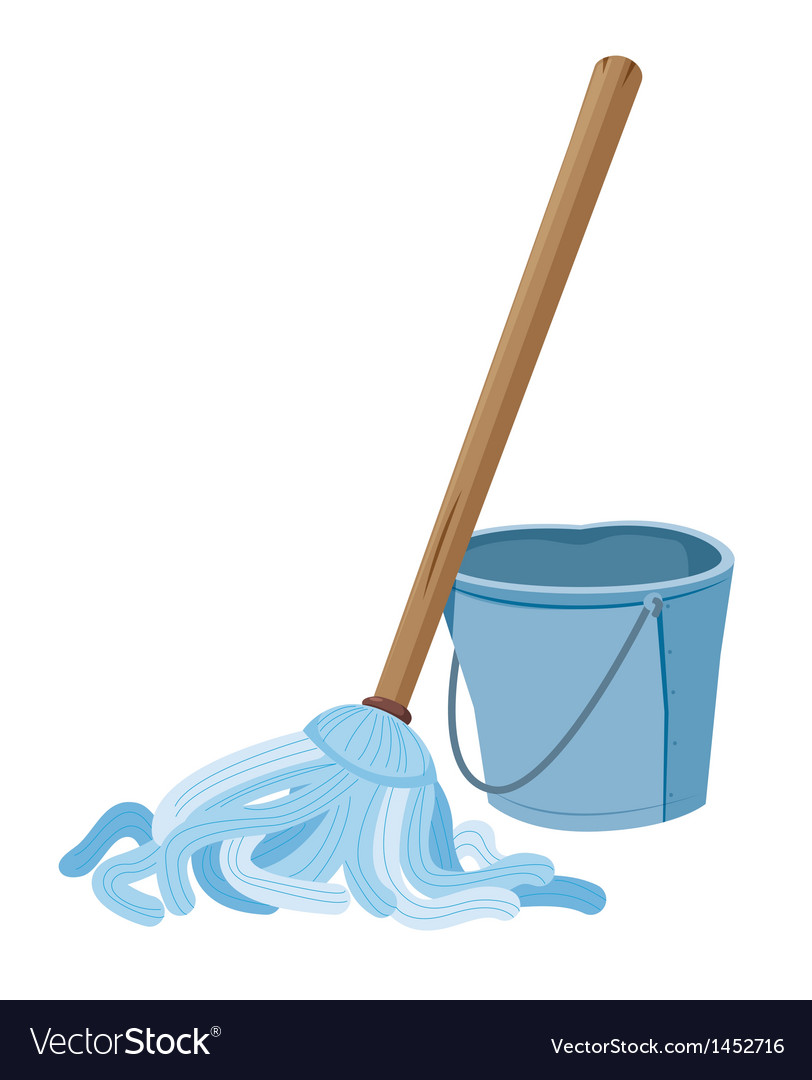 Bucket and mop vector | Price: 1 Credit (USD $1)