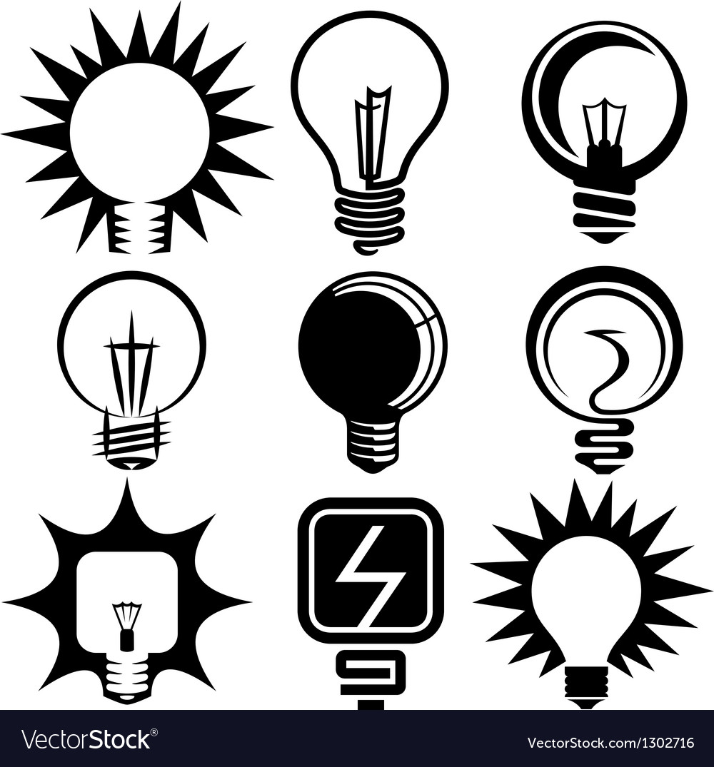 Bulb icons set vector | Price: 1 Credit (USD $1)
