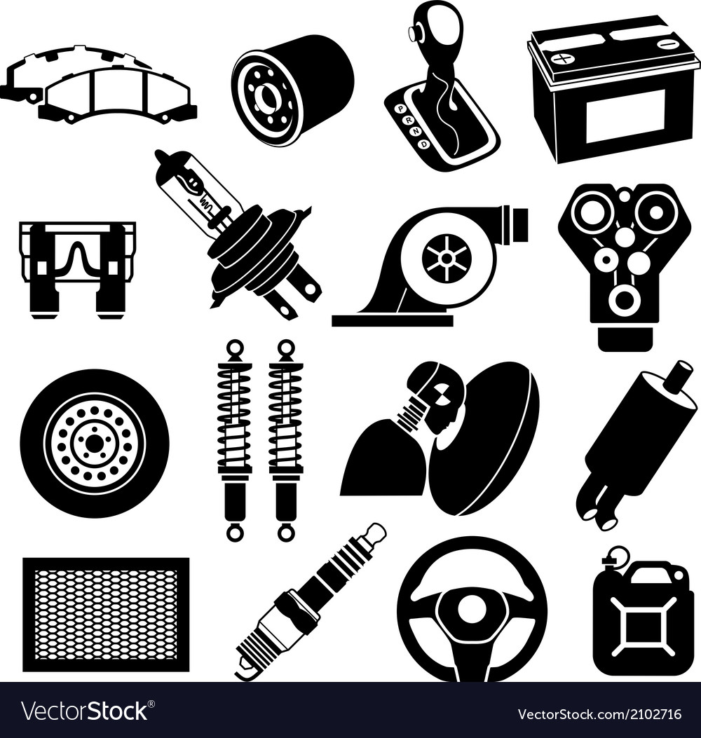 Car maintenance icons vector | Price: 1 Credit (USD $1)