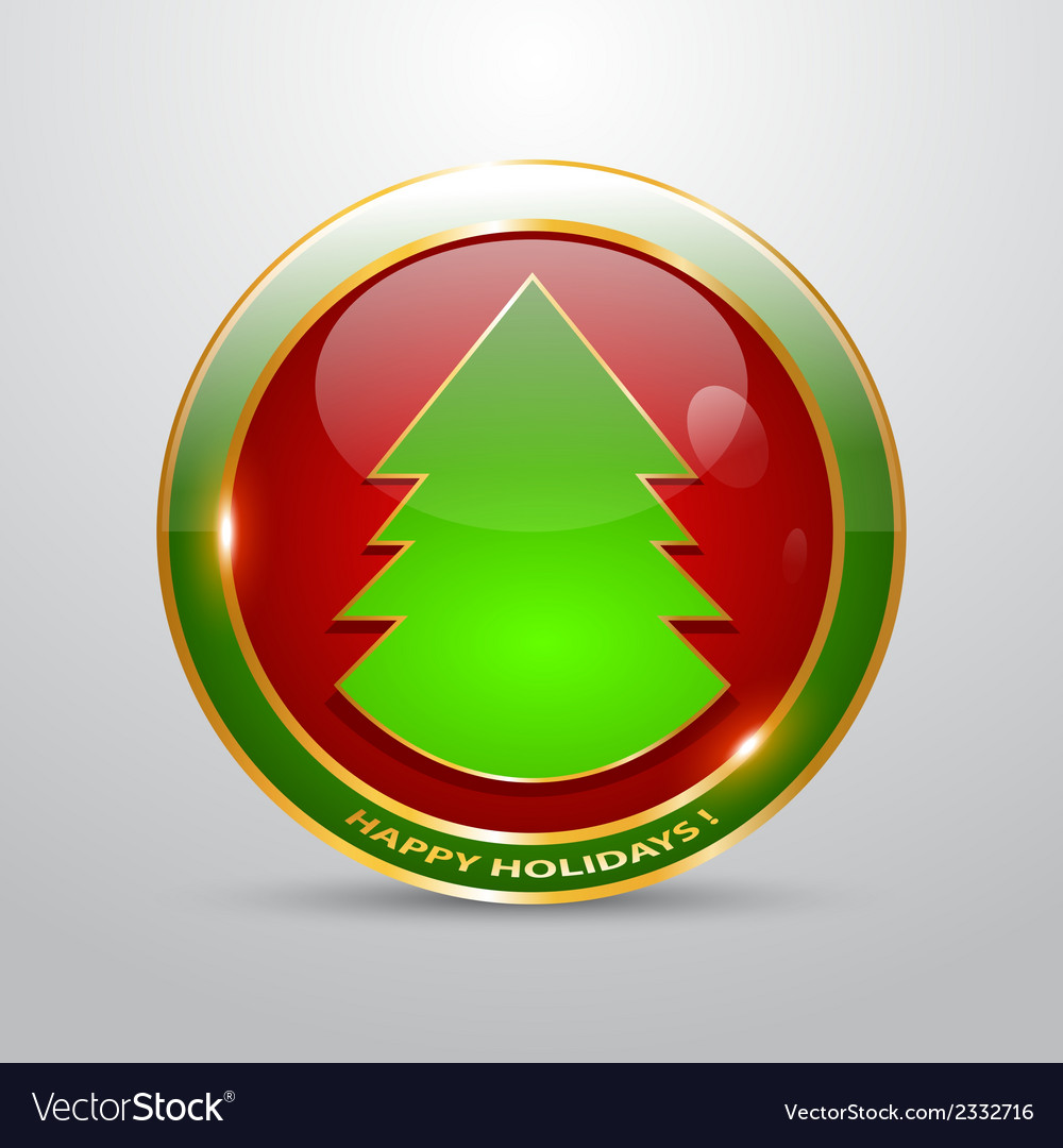 Christmas button vector | Price: 1 Credit (USD $1)
