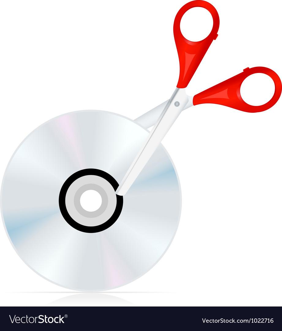 Dvd cut icon vector   Price: 1 Credit (USD $1)