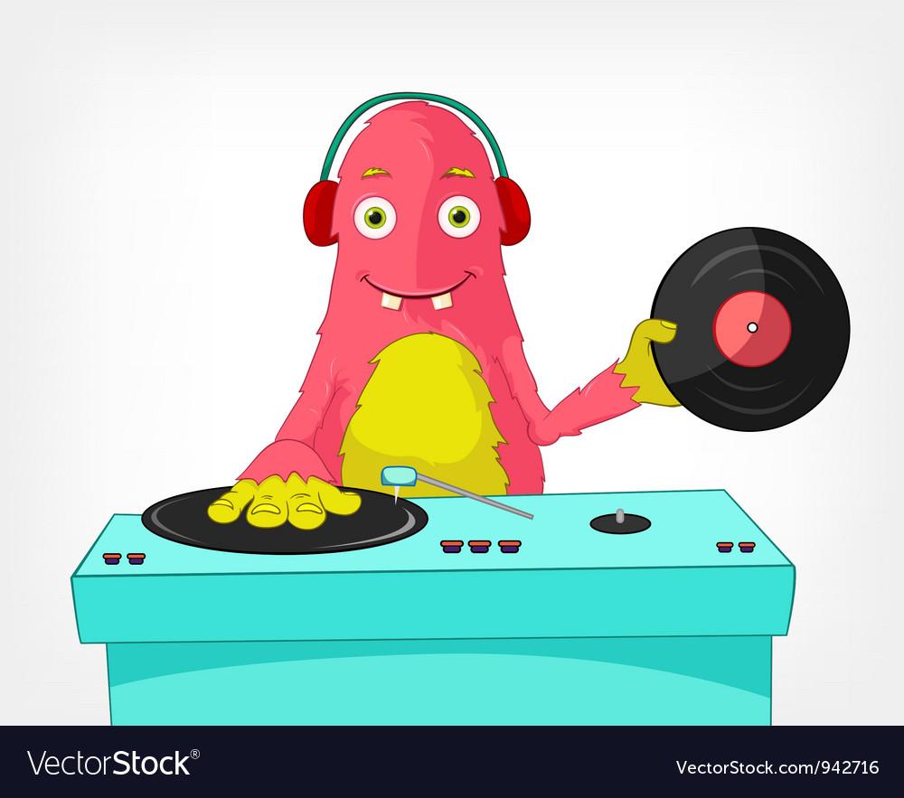 Funny monster dj vector | Price: 3 Credit (USD $3)