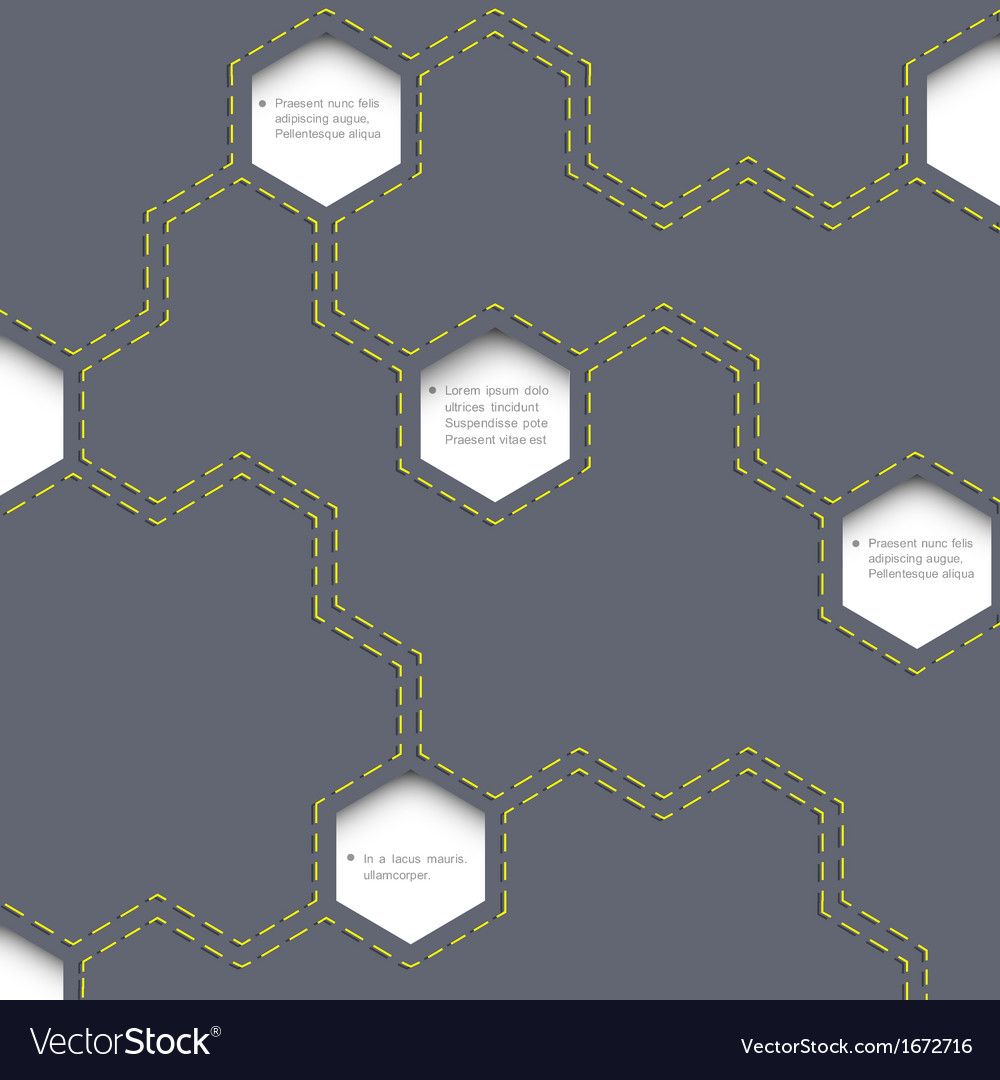 Geometric simple background with hexagons vector | Price: 1 Credit (USD $1)