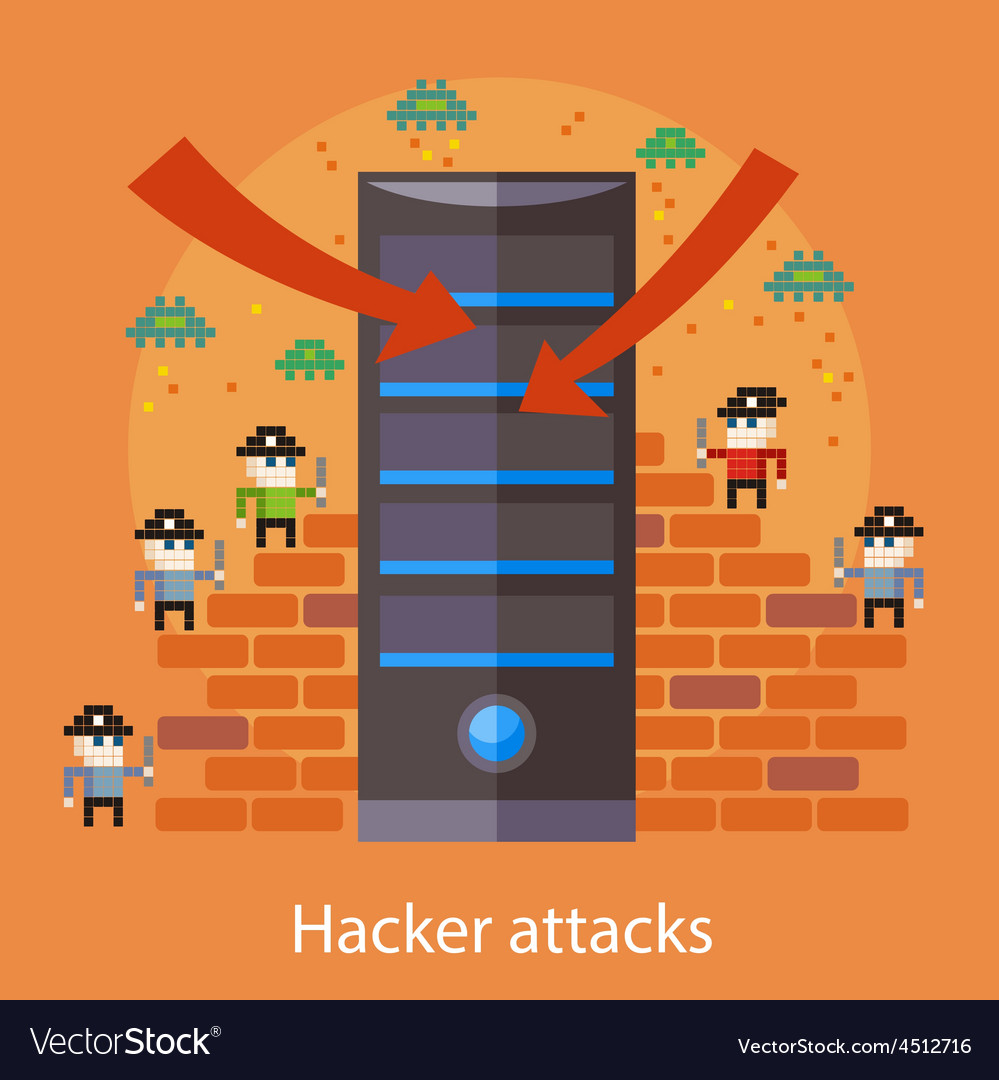 Hacker attaks vector | Price: 1 Credit (USD $1)