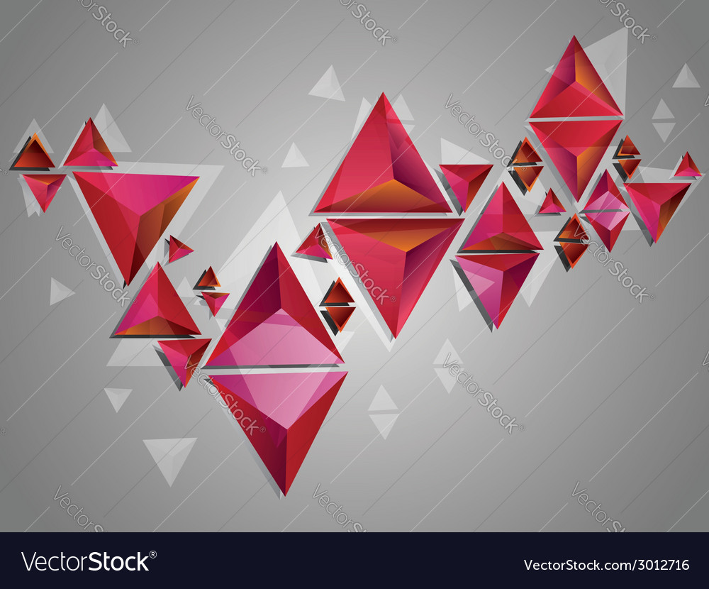 Red 3d triangles2 vector | Price: 1 Credit (USD $1)