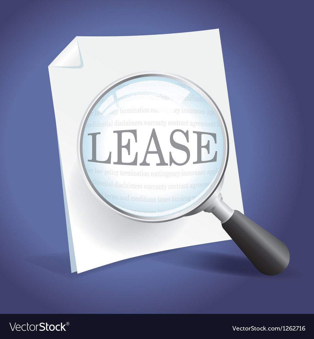 Reviewing a lease agreement vector | Price: 1 Credit (USD $1)