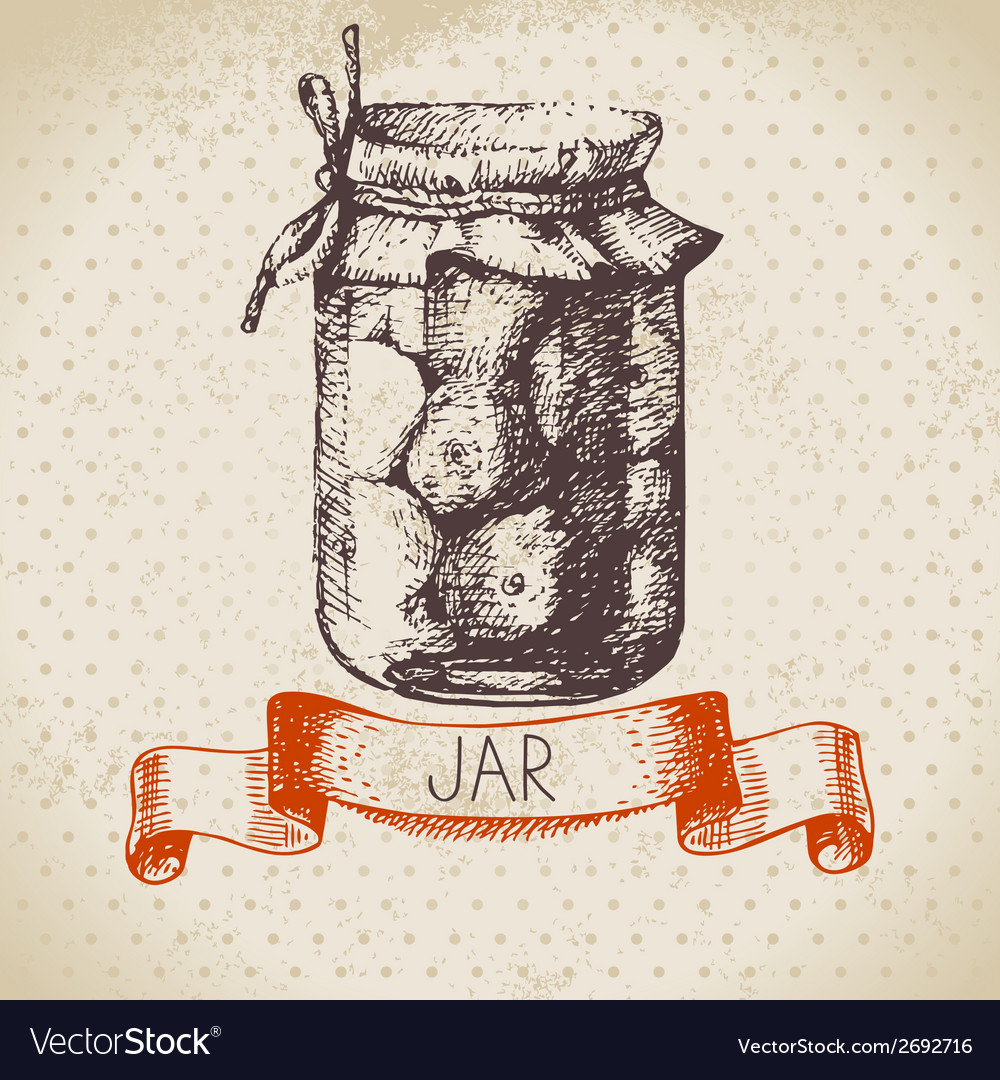 Rustic canning jar with tomato vector | Price: 1 Credit (USD $1)