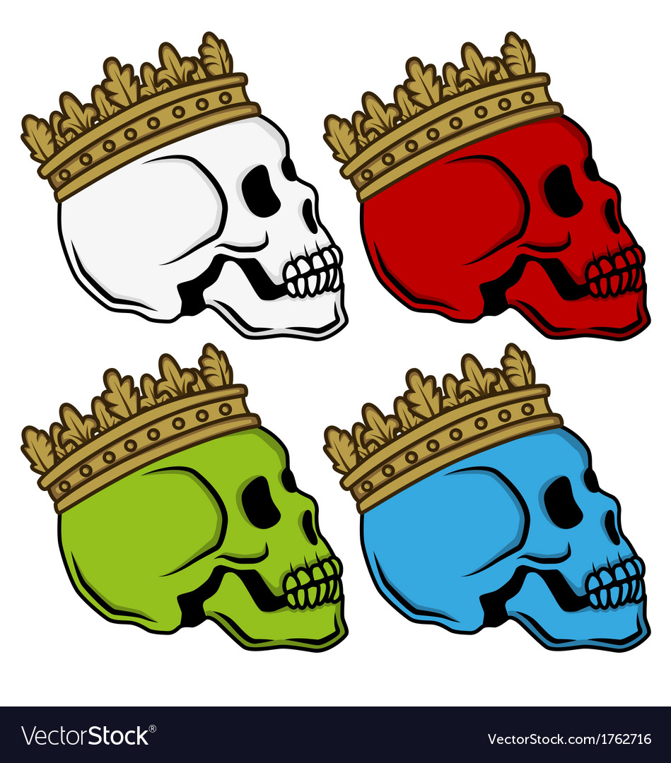 Skull king crown vector | Price: 1 Credit (USD $1)