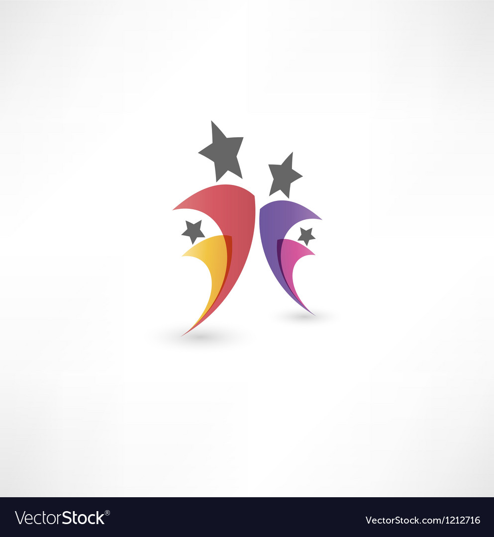 Success people icon vector | Price: 1 Credit (USD $1)