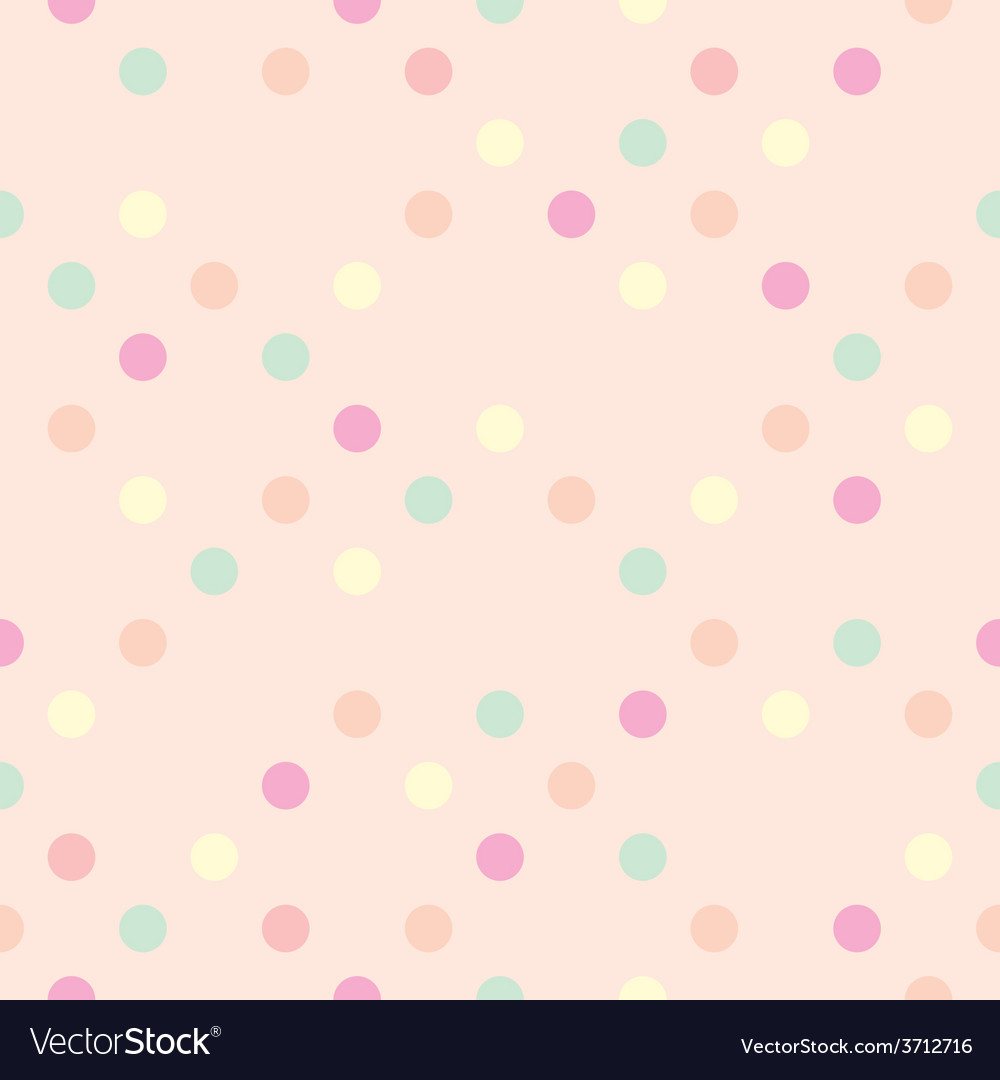 Tile polka dots on pastel pink pattern vector | Price: 1 Credit (USD $1)