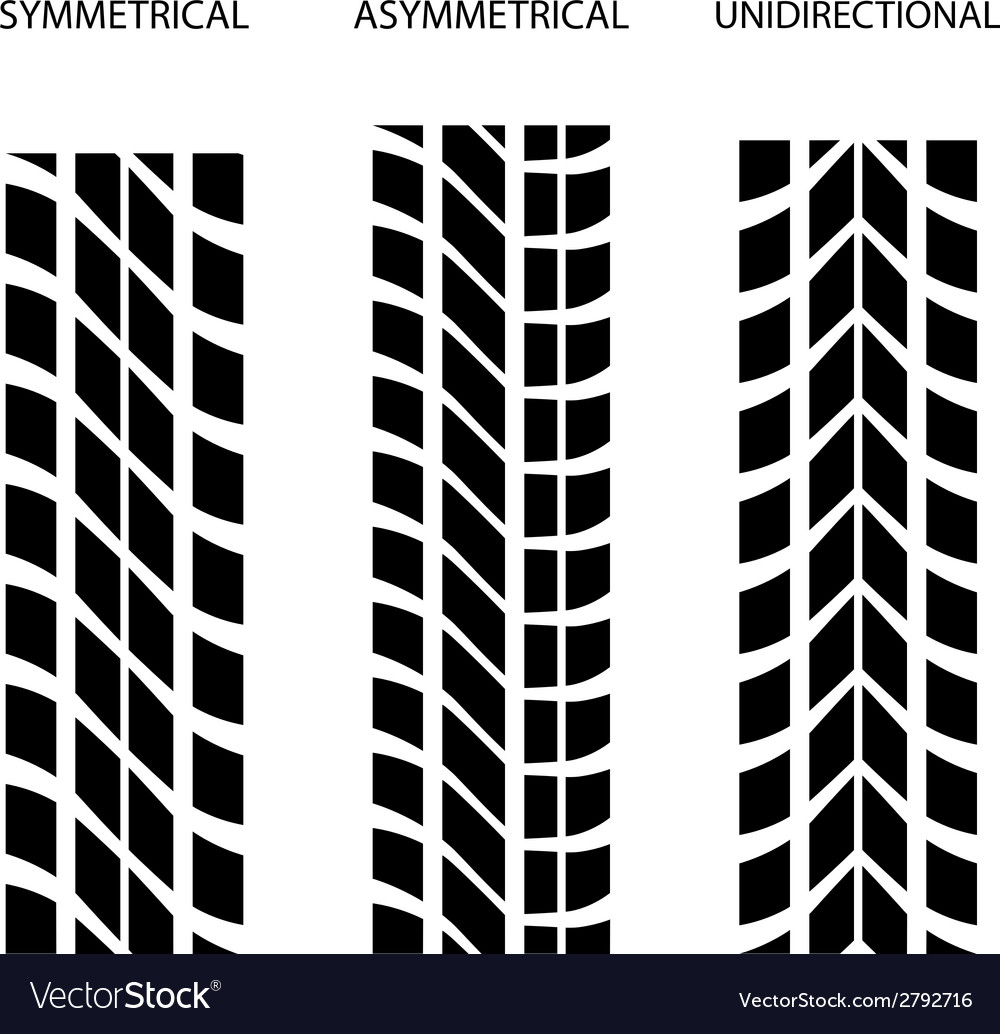 Tyre symmetrical asymmetrical unidirectional vector | Price: 1 Credit (USD $1)