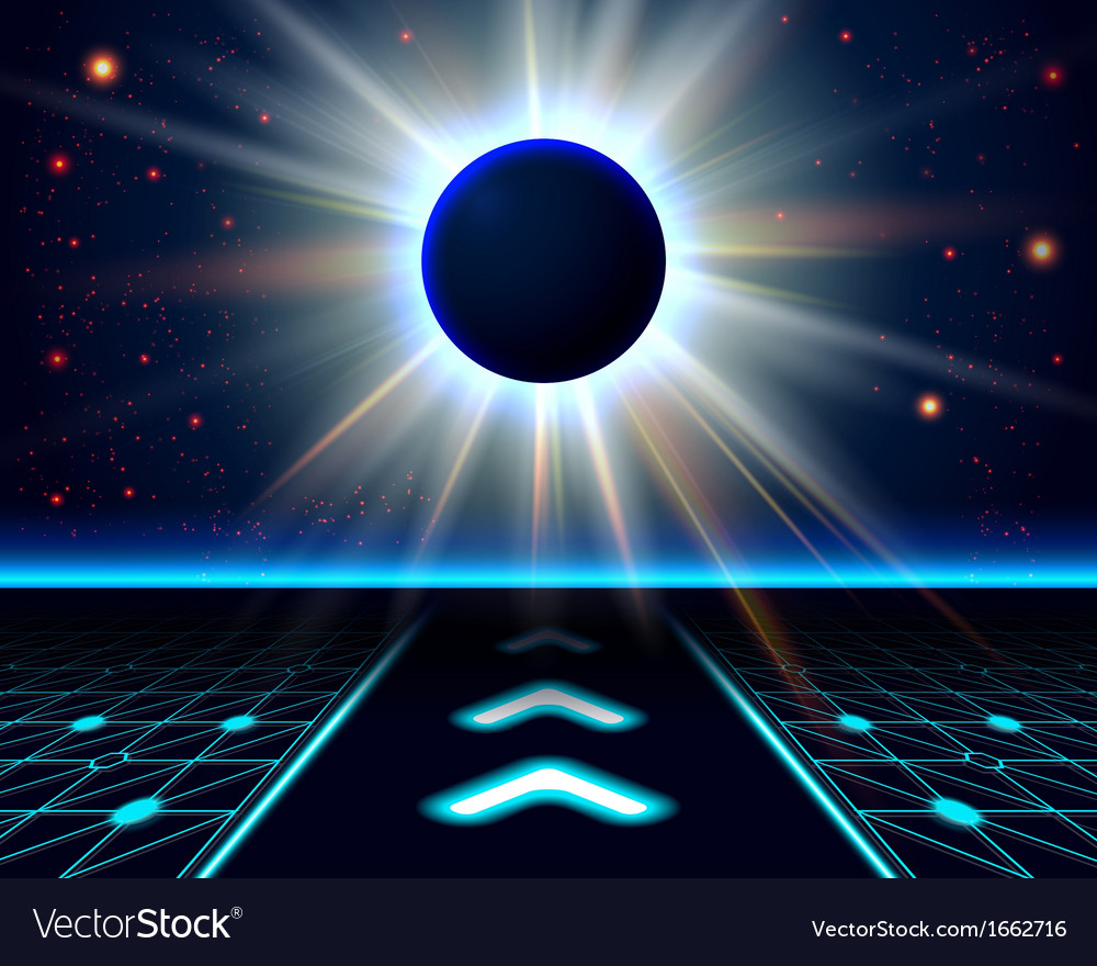 Unknown planet eclipse abstract cosmic background vector | Price: 1 Credit (USD $1)
