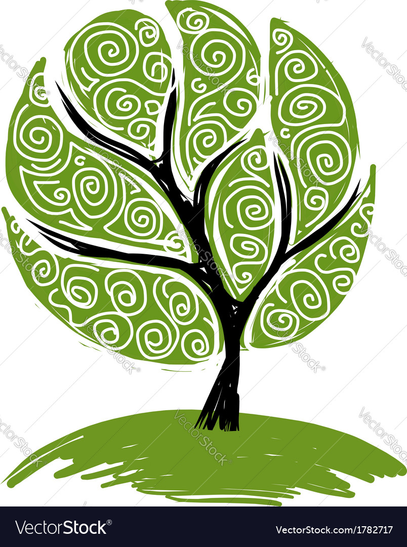Abstract green tree for your design vector | Price: 1 Credit (USD $1)