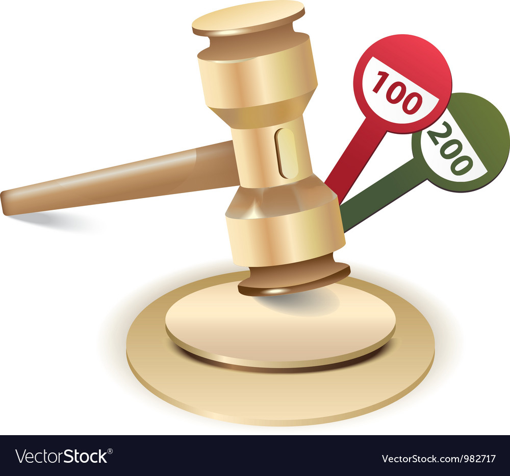Auction gavel icon vector | Price: 1 Credit (USD $1)