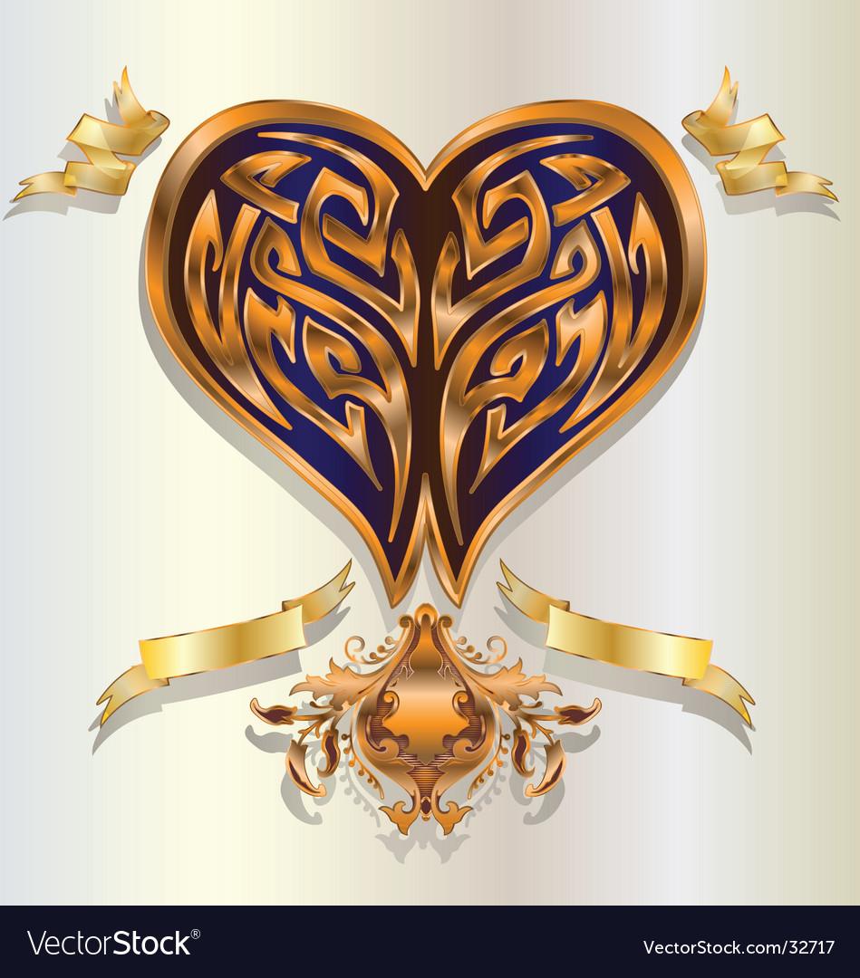 Baroque heart vector | Price: 1 Credit (USD $1)