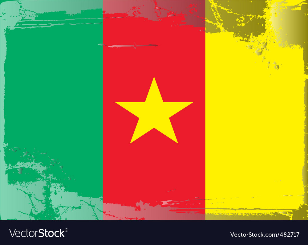 Cameroon national flag vector | Price: 1 Credit (USD $1)