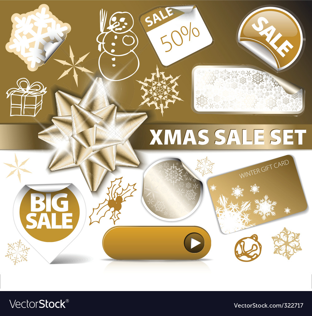 Christmas discount tickets vector | Price: 1 Credit (USD $1)
