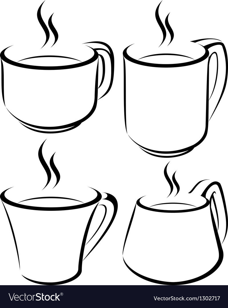 Cup set vector | Price: 1 Credit (USD $1)