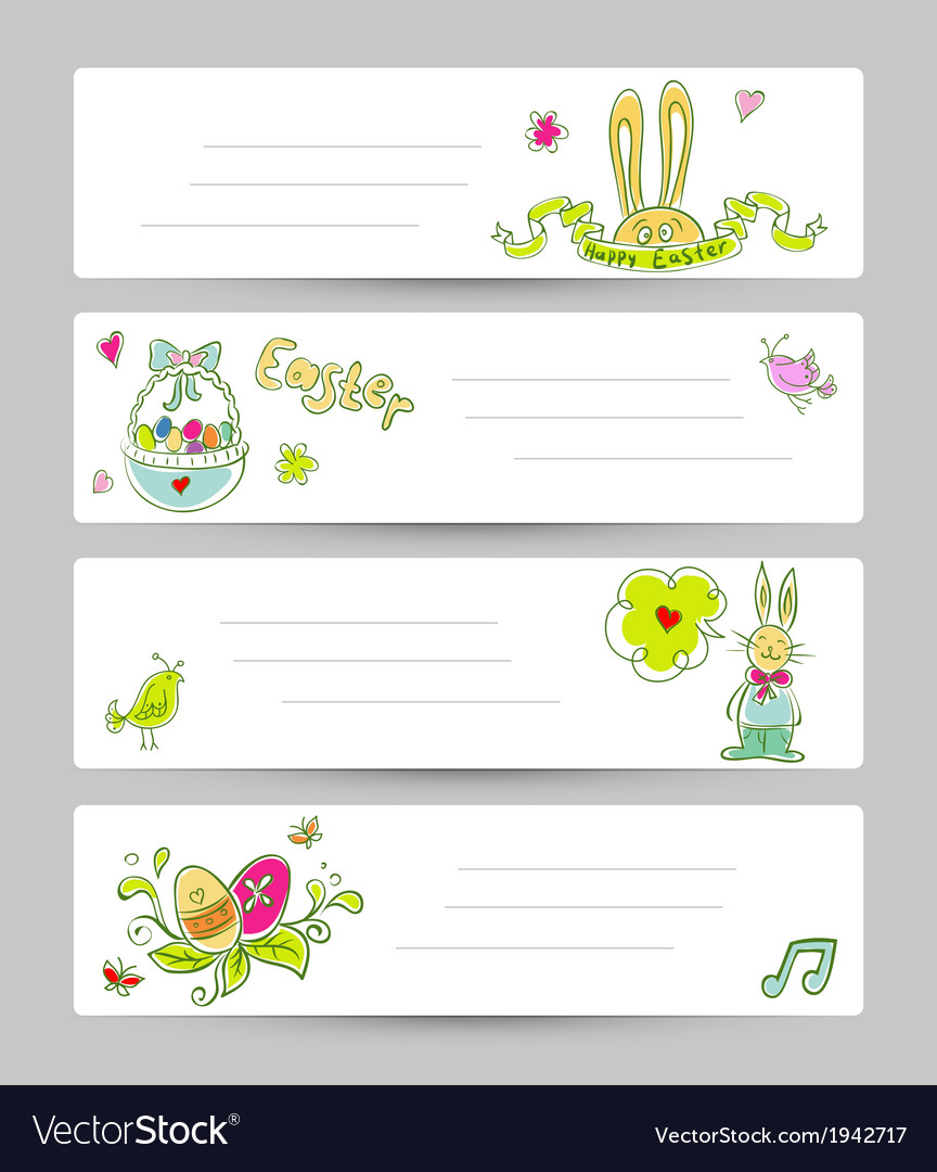 Easter templates vector | Price: 1 Credit (USD $1)