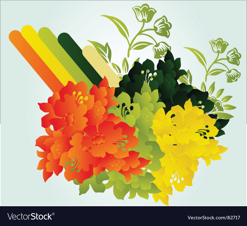 Floral arrangement vector | Price: 1 Credit (USD $1)