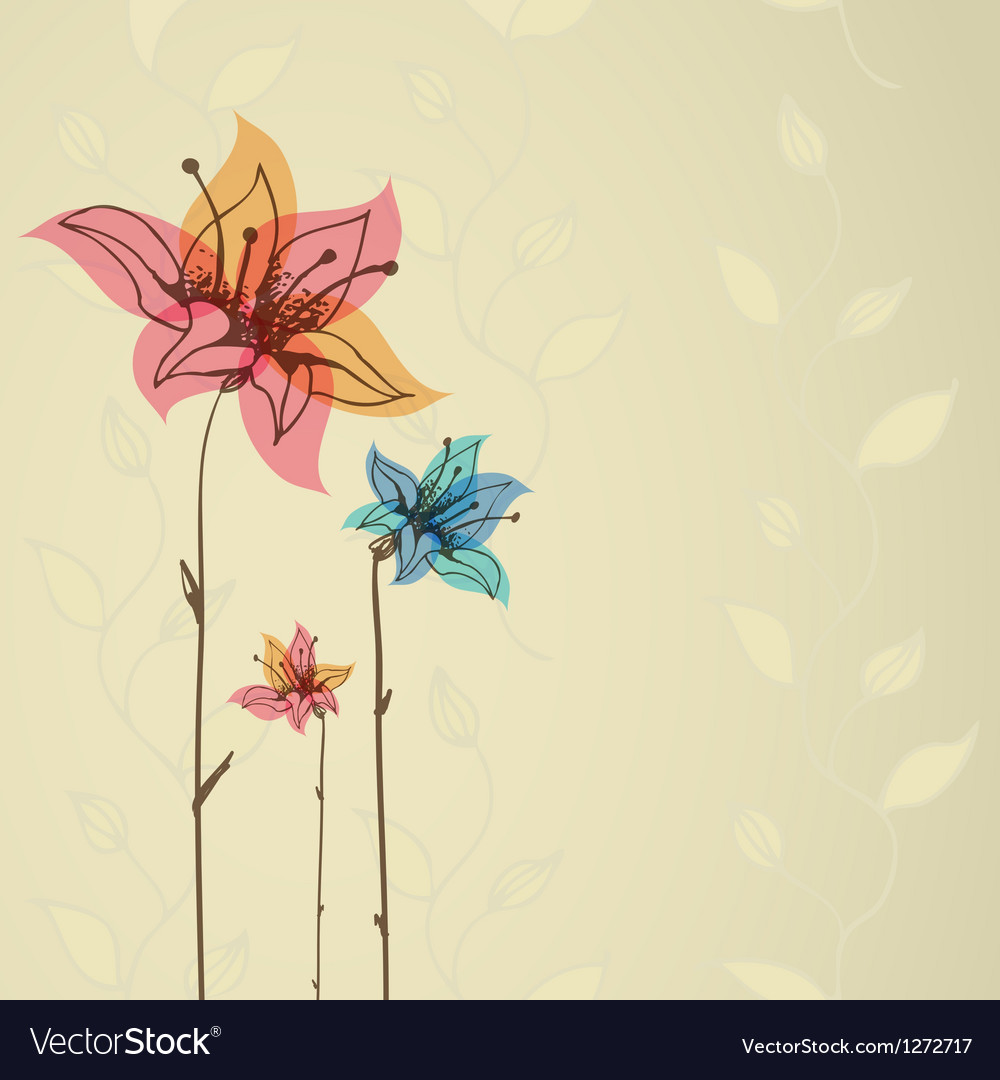 Floral retro background eps10 vector | Price: 1 Credit (USD $1)