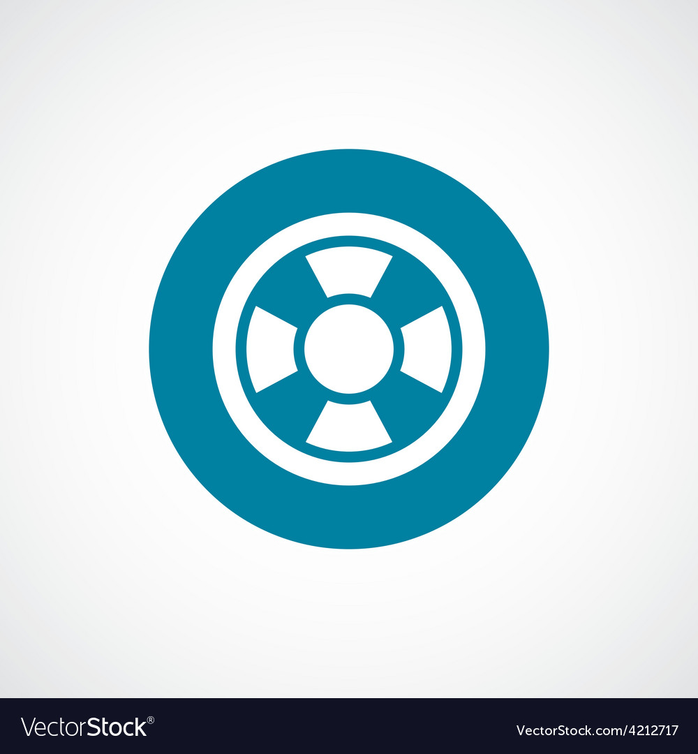 Lifebuoy icon bold blue circle border vector | Price: 1 Credit (USD $1)