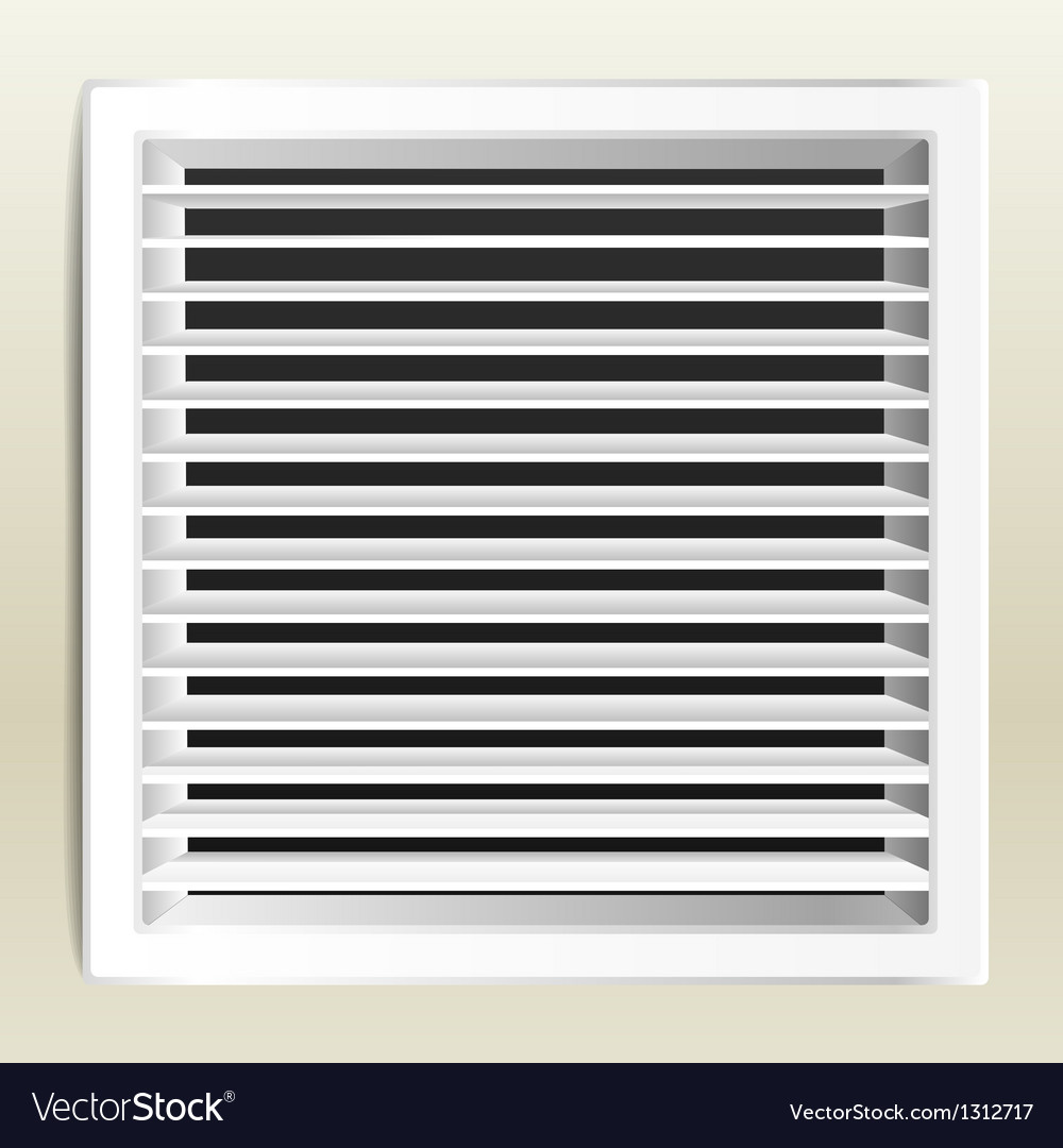 Photorealistic bathroom ventilation window vector | Price: 1 Credit (USD $1)