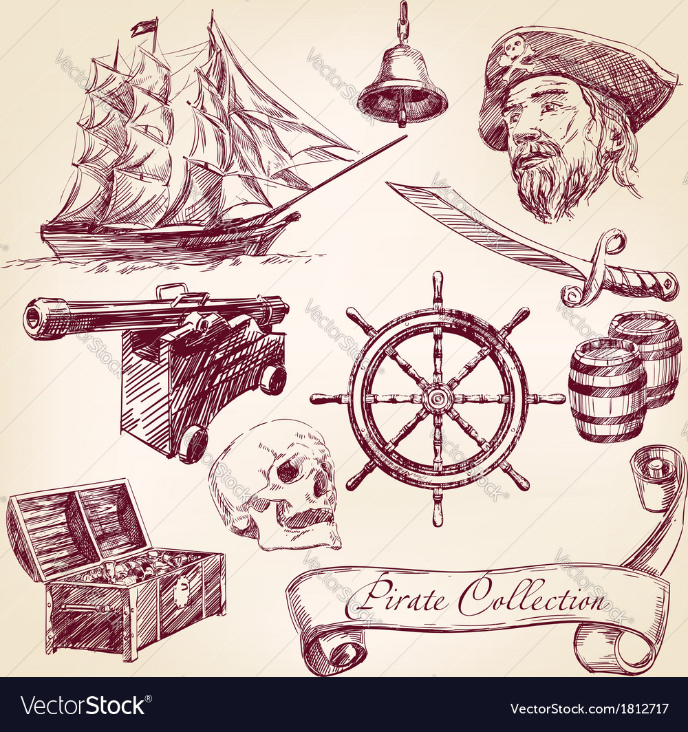 Pirate collection vector | Price: 1 Credit (USD $1)
