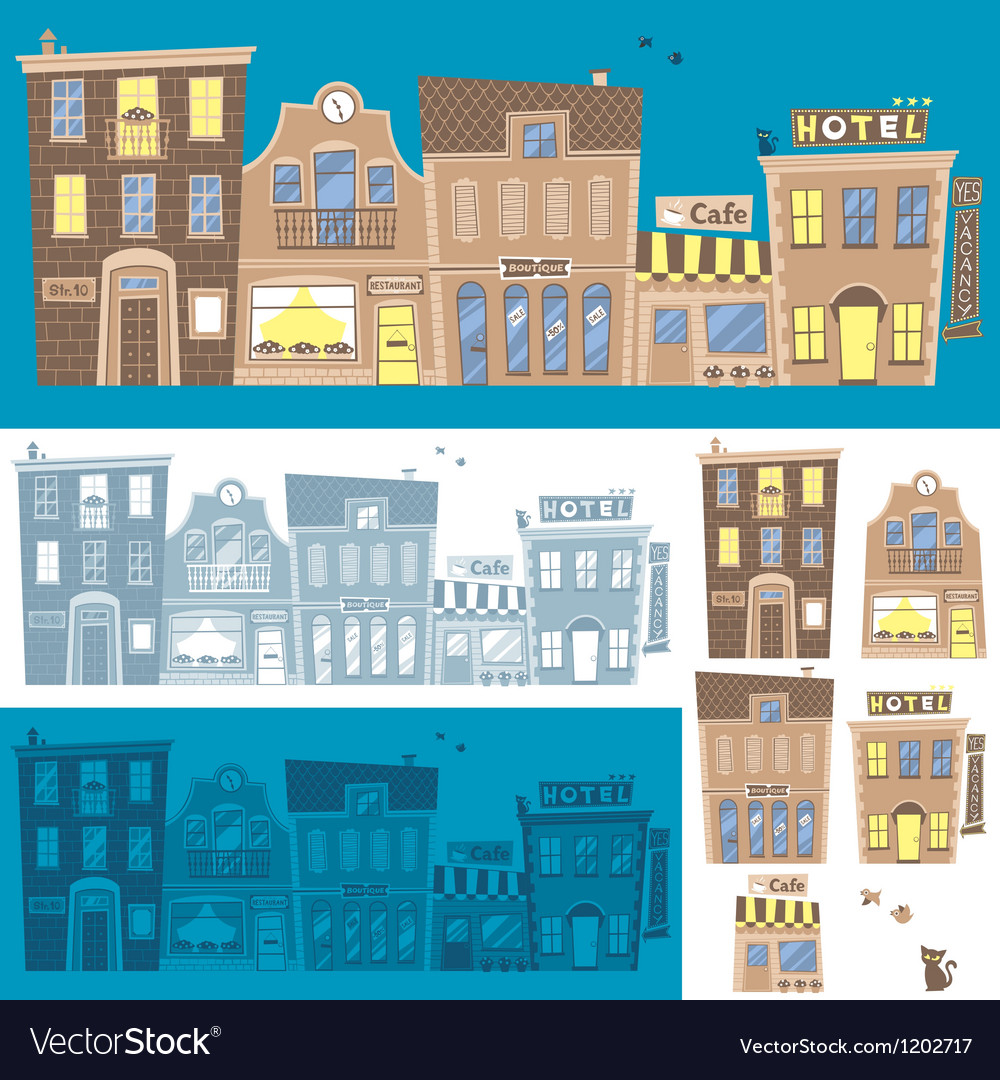 Street background vector | Price: 3 Credit (USD $3)
