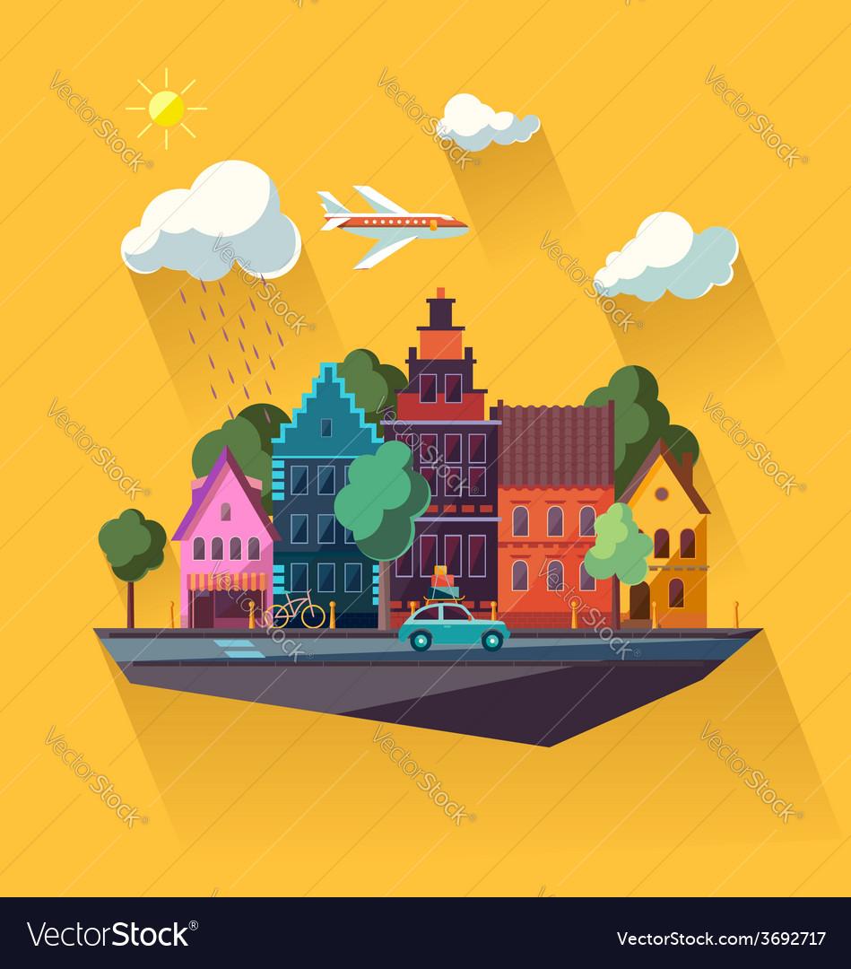 Urban cityscape vector | Price: 1 Credit (USD $1)