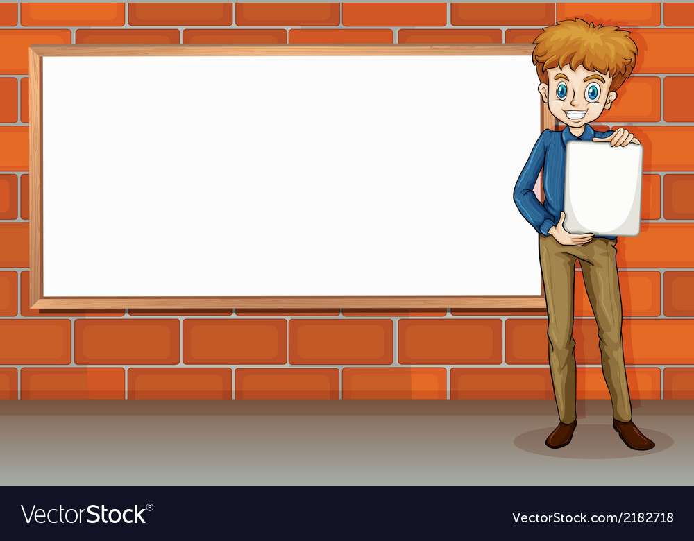 A tall businessman standing beside the empty vector | Price: 1 Credit (USD $1)