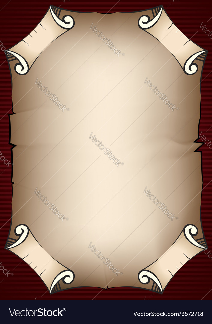 Aged parchment scroll vector | Price: 1 Credit (USD $1)