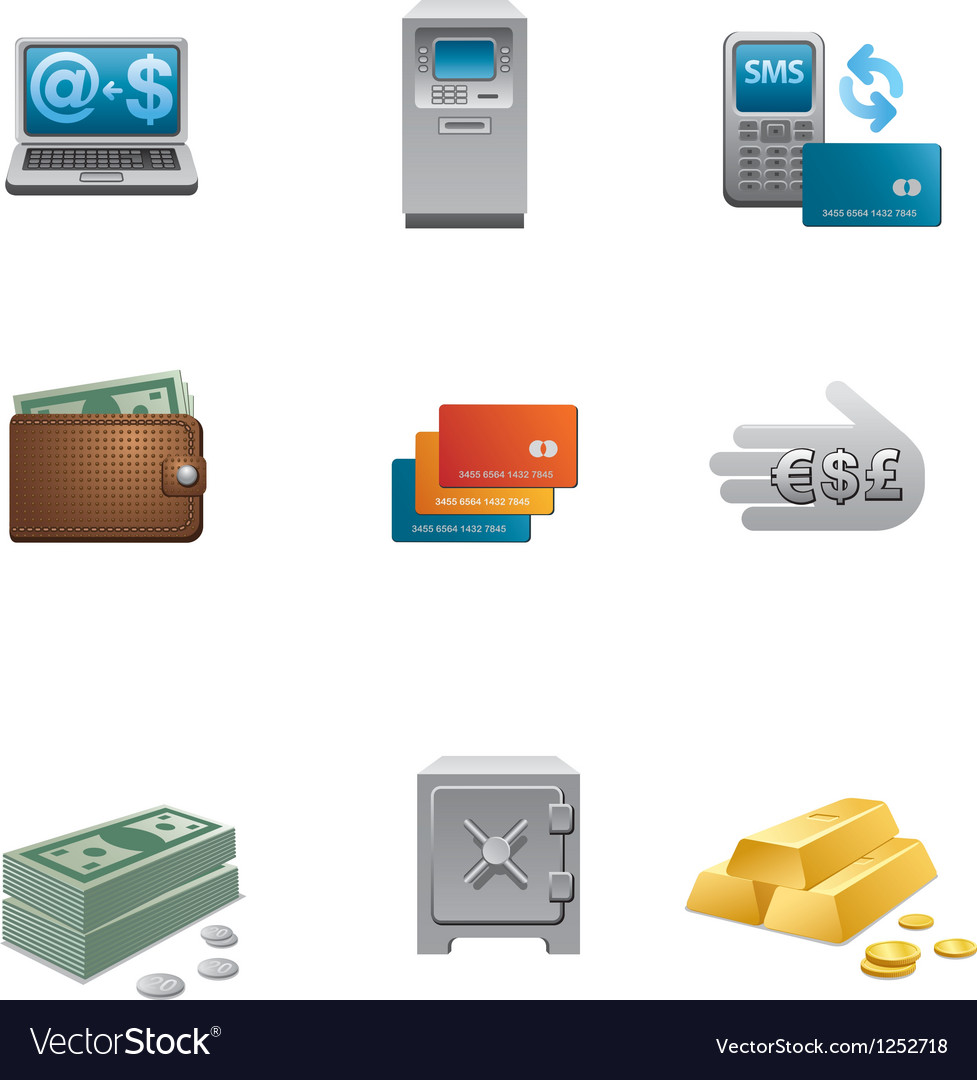 Banking icon set vector | Price: 3 Credit (USD $3)