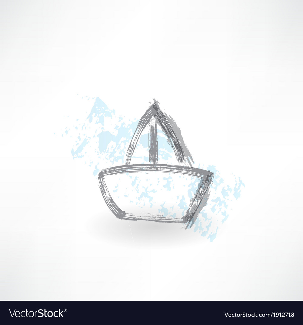 Boat grunge icon vector | Price: 1 Credit (USD $1)